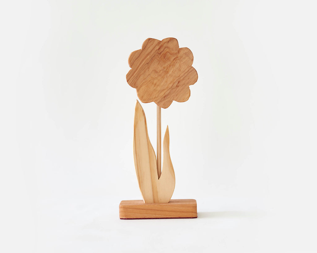 Wooden Flower -Tall