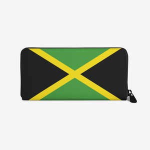 Jamaican Flag premium Leather Purse