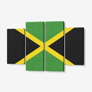 Jamaica Flag 4 Piece Canvas Wall Art