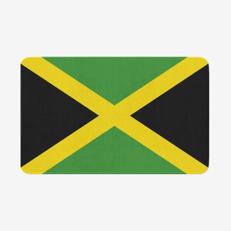 Jamaica Flag Microfiber Chevron Non-Slip Soft Kitchen Mat Bath Rug Doormat