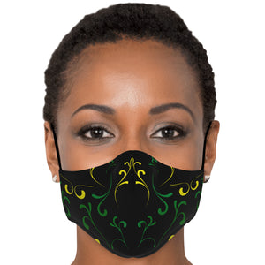 Jamaica Black Green and Gold Mask