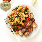 Loma Linda Chickpea Scramble with Kale & Tomatoes