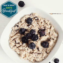Loma Linda Oatmeal with Blueberry Topping
