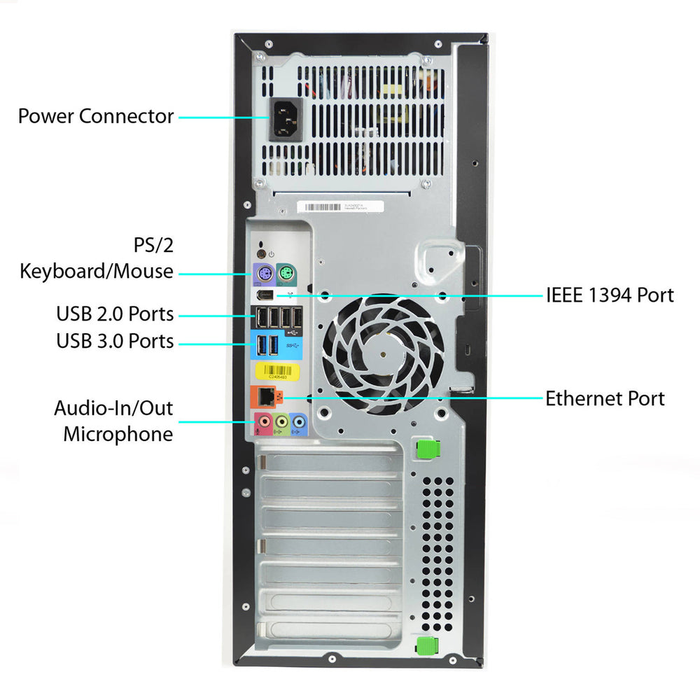 HP Z420 Workstation Tower Xeon E5-1660v2 3.7GHz 16GB Ram 480GB SSD 2TB HDD Windows 10 Pro