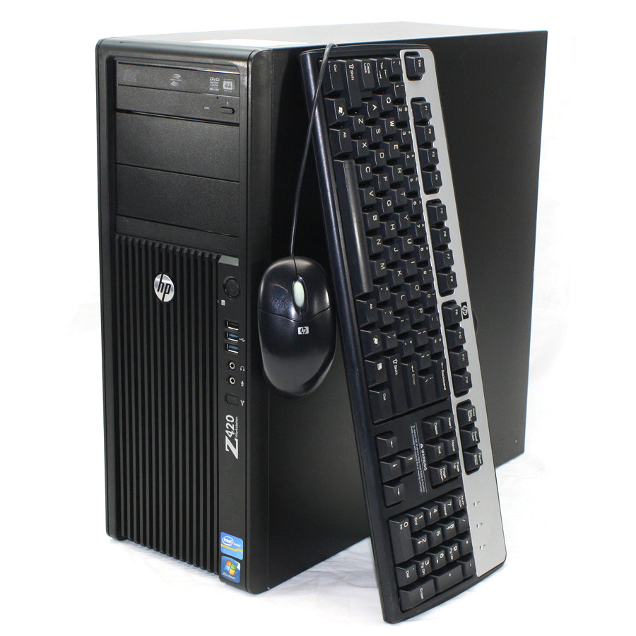 HP Z420 Workstation Tower Xeon E5-1660v2 3.7GHz 16GB Ram 480GB SSD 1TB HDD Windows 10 Pro