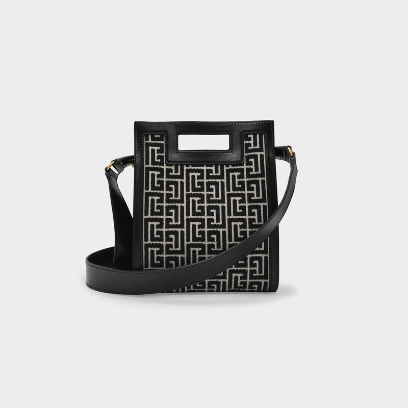 1945 Small Tote in Black Jacquard Monogram