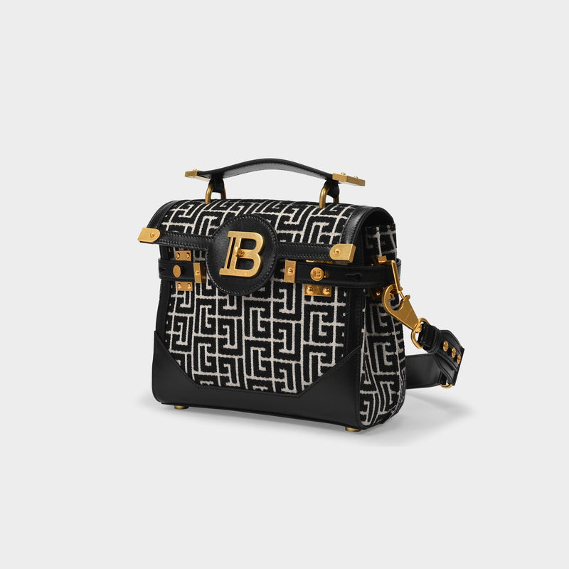 B-Buzz 23 Bag in Black Jacquard Monogram