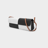 Big Baguette Bag in White and Black Leather