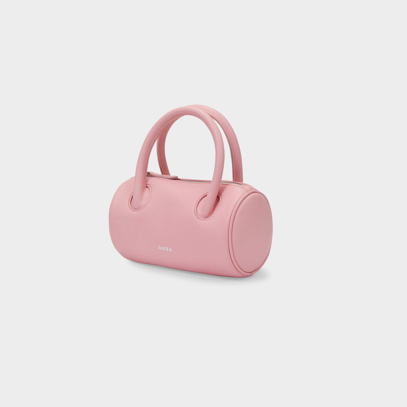 Cylinder Bag in Pink Leather