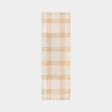 Giant Check Gauze Scarf in White and Alabaster Wool and Silk