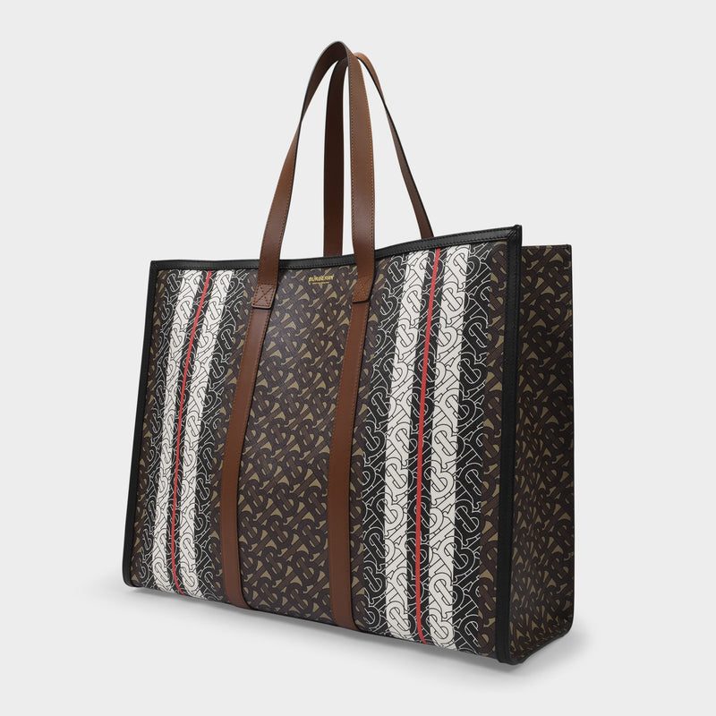 Md Ew Book Tote Bag in Bridle Brown Cotton and Polyurethane