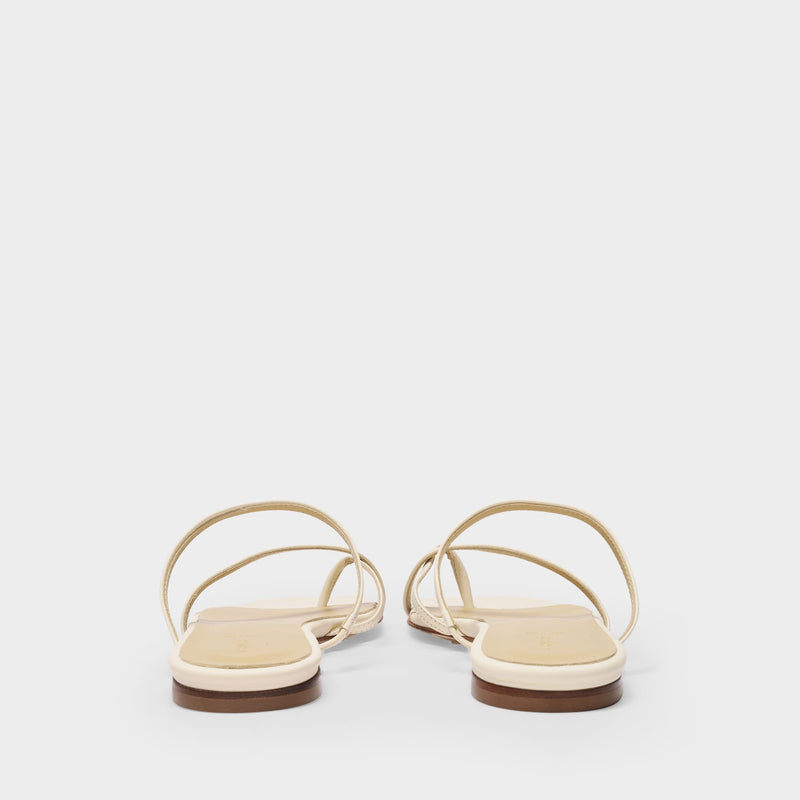 Marina Sandals in Creamy Nappa Leather