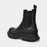 Tread Slick Boots in Black Leather