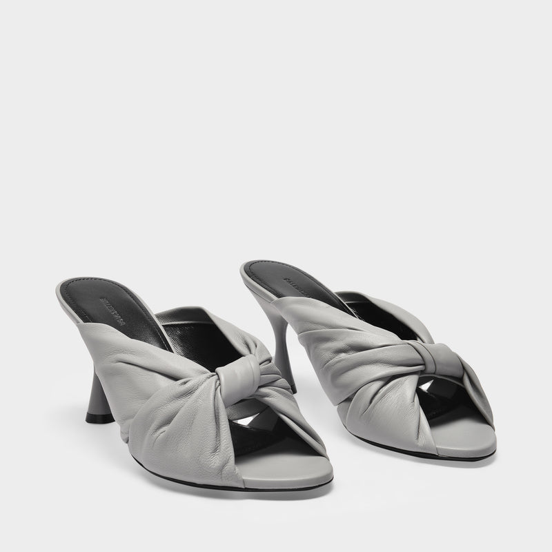 Drapy M80 Sandals in Balenciaga Grey Smooth Leather