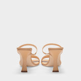 Nayla Nude Sandals in Nude Leather