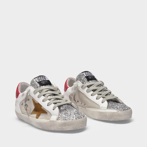 Super-Star Sneakers in White/Multicolored Leather