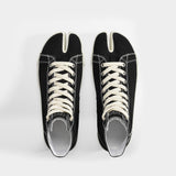 Tabi High Top Sneakers in Black Canvas