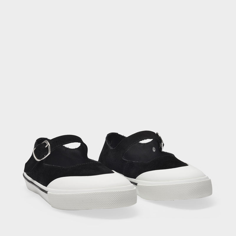 Mary Jane Sneakers in Black Leather