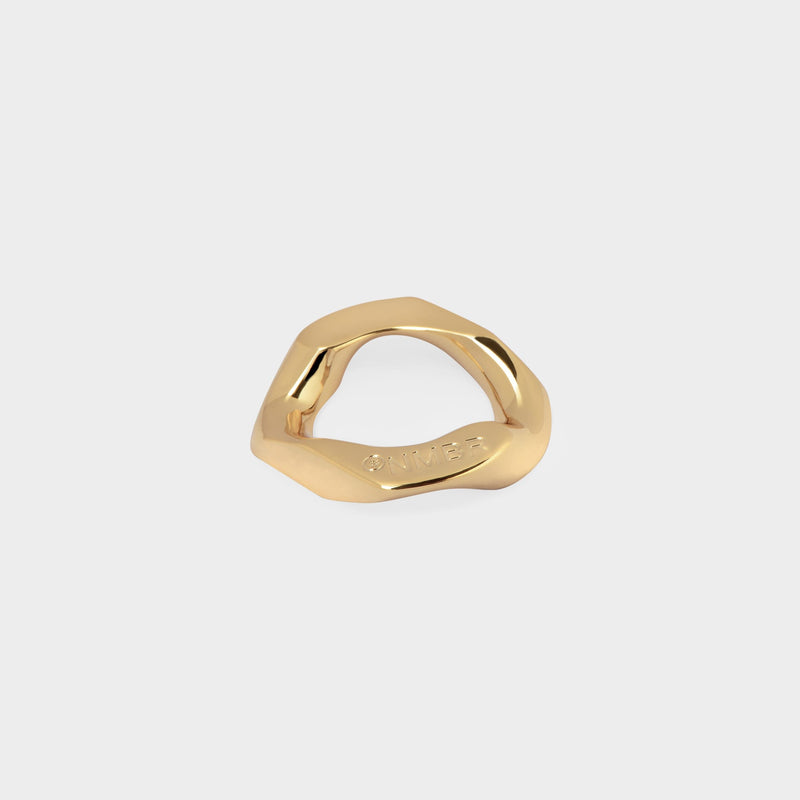 Chain Unit Ring in Gold Brass