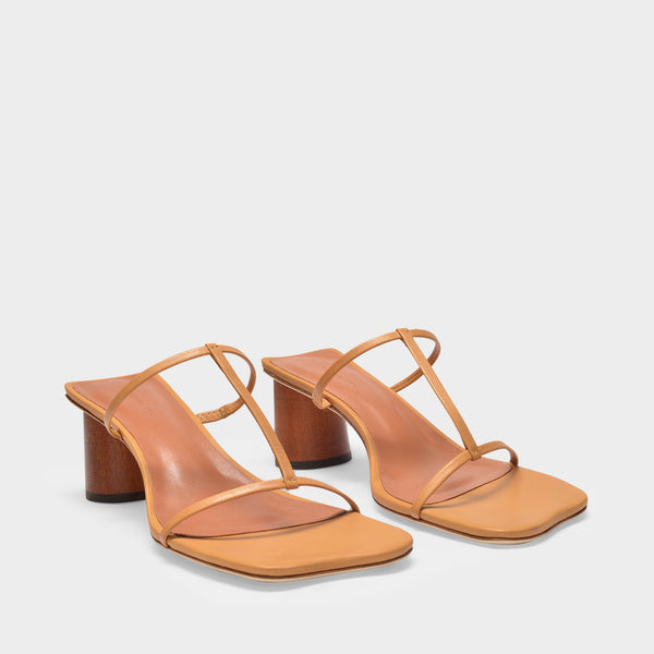 Erin Sandals 60mm in Tan Leather
