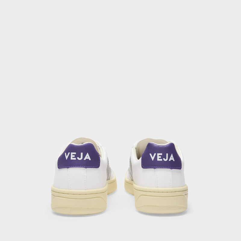 Urca Sneakers in White Oxford Grey Purple Canvas