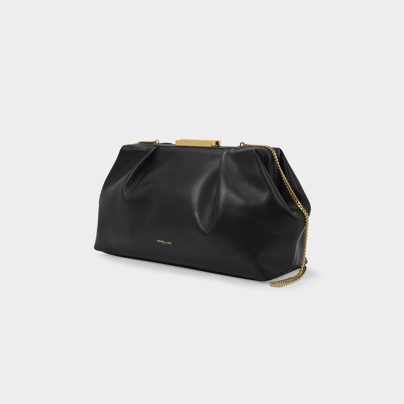 Clutch Florence In Black Leather