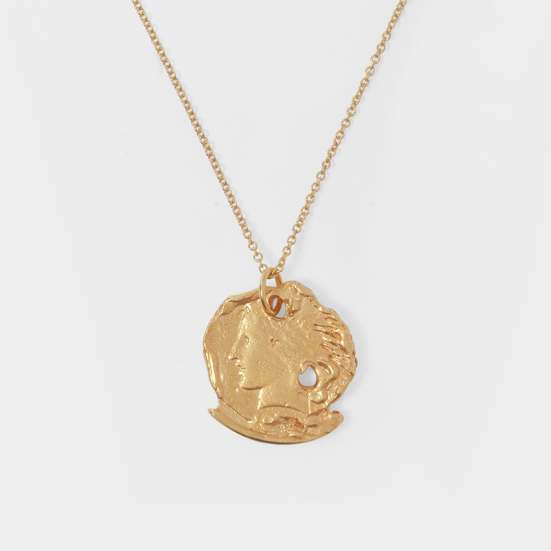 The Forgotten Memory Necklace in Gold Plated Bronze