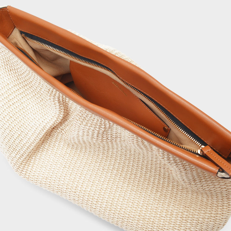 Luz Clutches Natural/Cognac