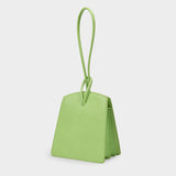 Loop Bag in Acid Green Embossed Leather