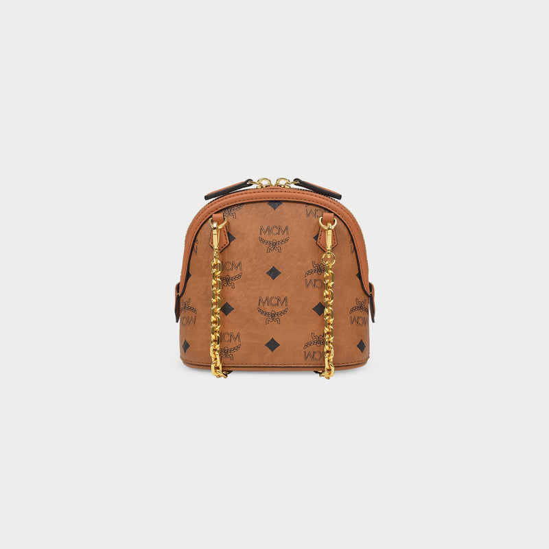 Anna Mini Crossbody in Cognac Visetos Canvas