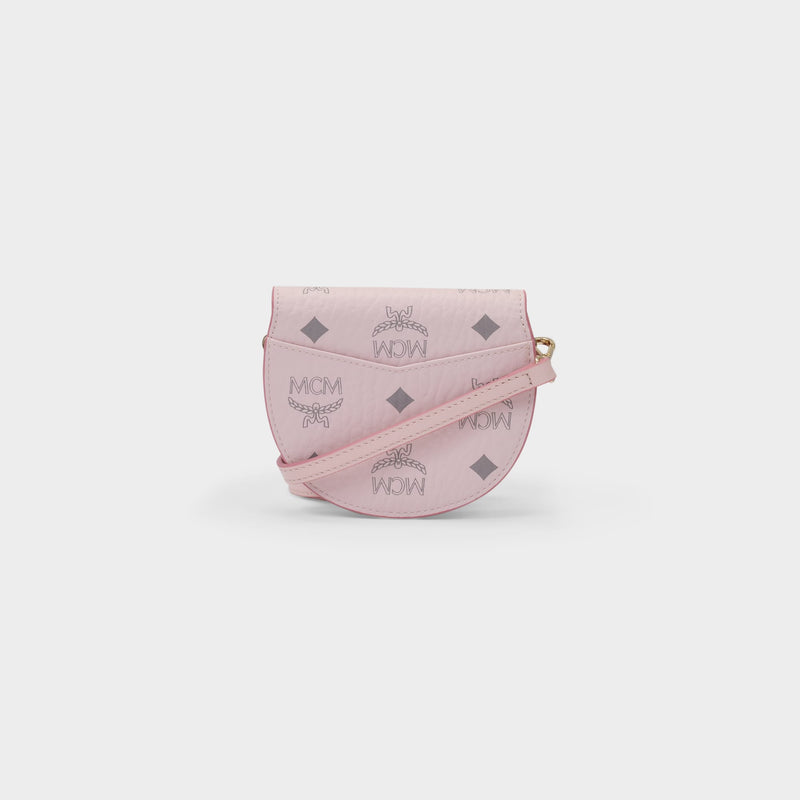 Patricia Small Flap Wallet in Powder Pink Visetos Canvas
