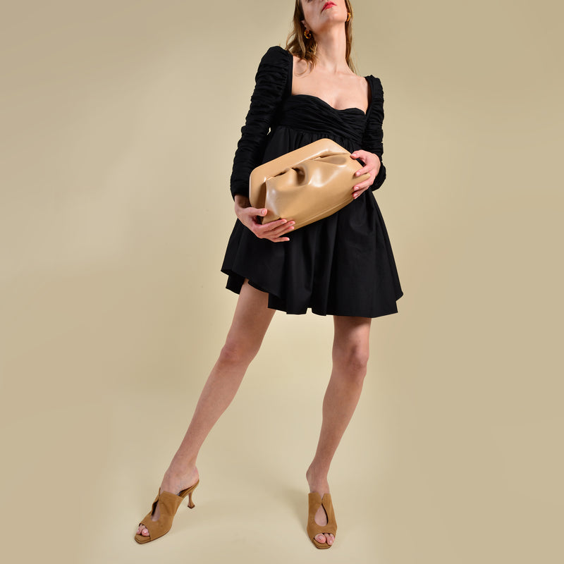 Bios Basic Eco Clutches in Havana Synthetic Leather