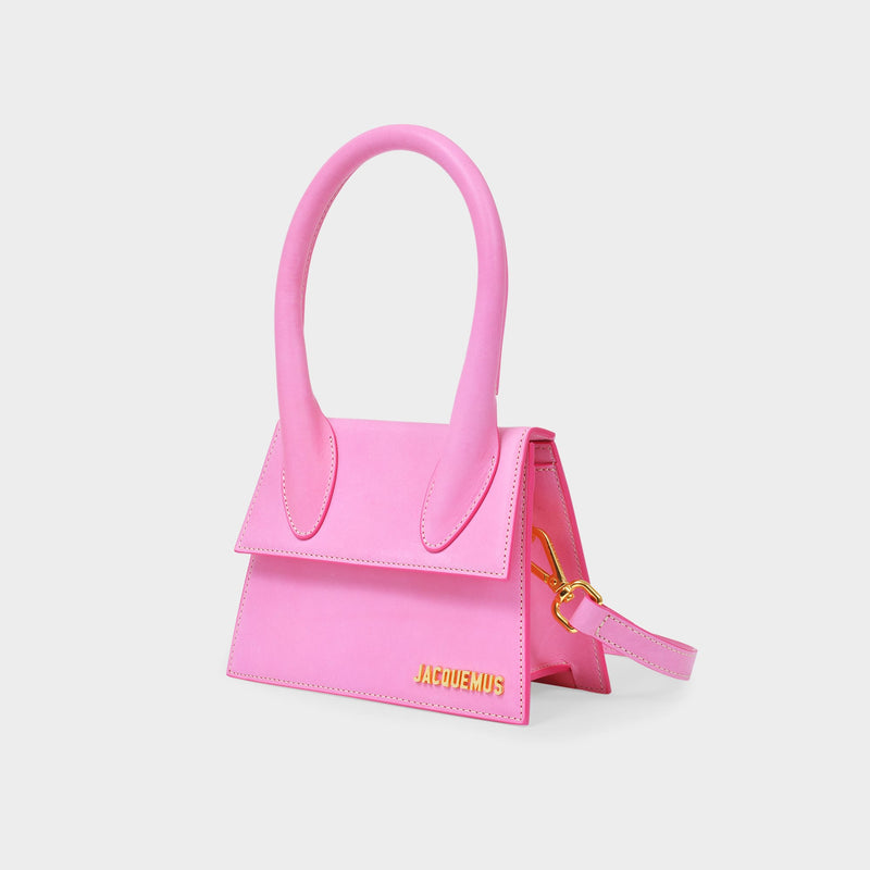 Le Chiquito Moyen Bag in Pink Leather