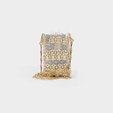 Sac Porte Epaule in Transparent Light Gold Brass