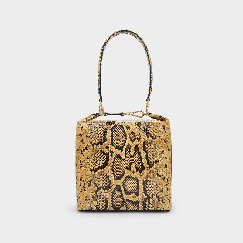 Lucie Bag in Brown Snake Printed Leather