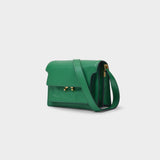 Trunk Soft Mini Crossbody Bag in Sea Green Leather