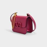Vsling Small Shoulder Bag in Raspberry Pink Calfskin