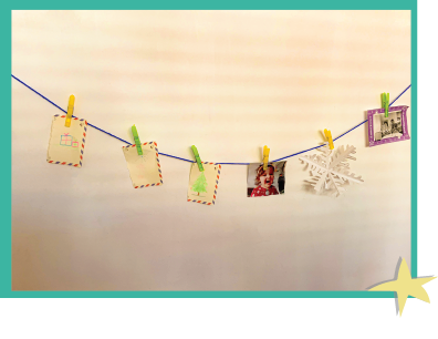 Display our great moments together in an Interactive Clothesline project! *Corde à linge interactive*