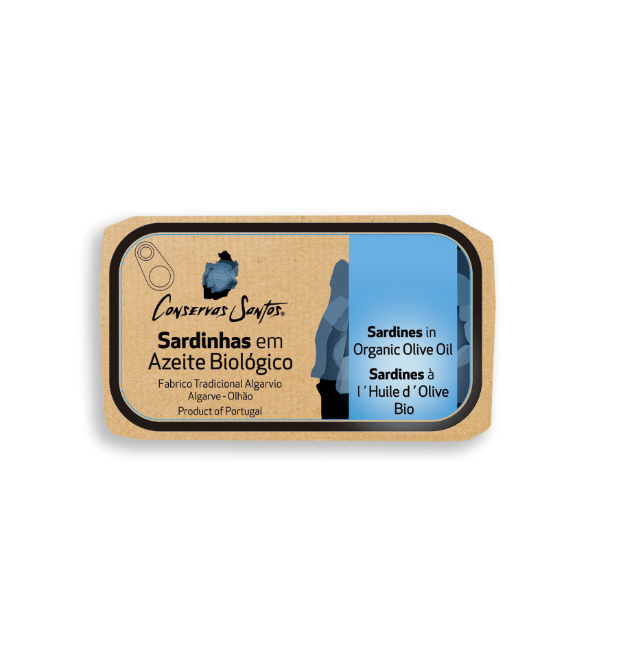 best portuguese food - Campos Santos - Sardines in organic olive oil from Algarve - 120g