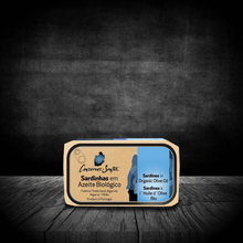 Load image into Gallery viewer, best portuguese food - Campos Santos - Sardines in organic olive oil from Algarve - 120g