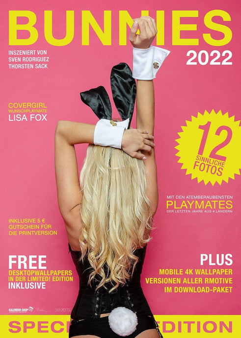 Bunnies 2022 Cover mit Covermodel Lisa Fox