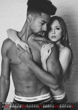 Lade das Bild in den Galerie-Viewer, Bodyliciouz Kalender 2016 Calvin Klein Style Couple Edition Kalenderblatt April 2016