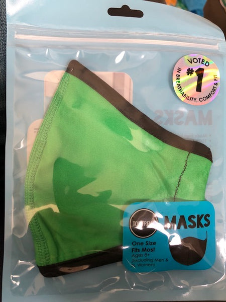 Top Trenz NEON Green Face Mask - One Size Fits Most