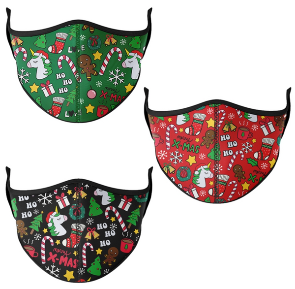 Top Trenz Christmas Print Mask - Youth (3-7) & One Size Fits Most (8+)
