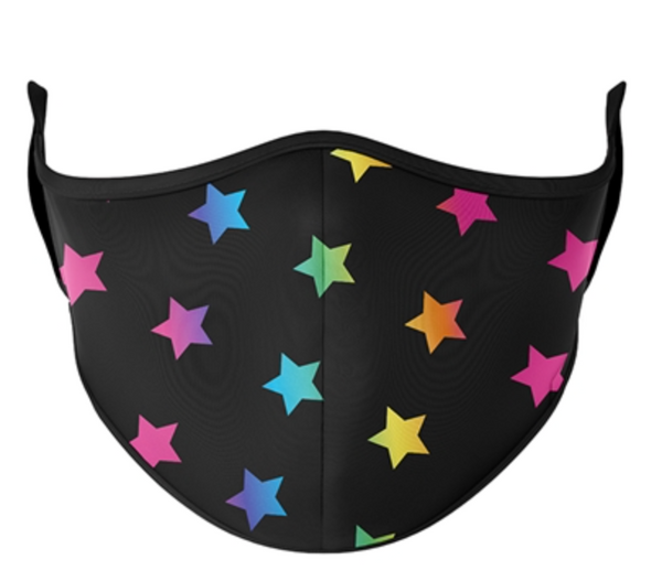 Top Trenz Multi Color Star Mask - One Size Fits Most