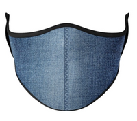 Top Trenz Denim Print Mask - One Size Fits Most