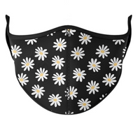 Top Trenz Daisy Print Mask - One Size Fits Most