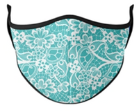 Top Trenz Paisley Plaid Print Mask - One Size Fits Most