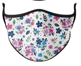 Top Trenz Floral Print Mask - One Size Fits Most