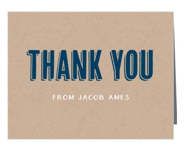 Thank you cards- Custom (FOLDED)